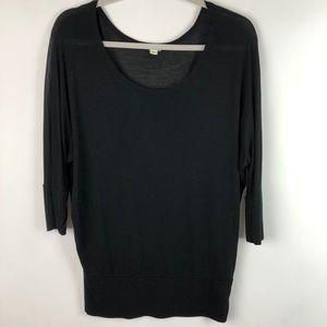 Zenana Outfitters Black Blouse 3/4 Dolman Sleeve